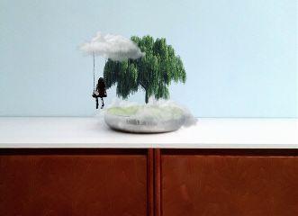 freetoedit tree clouds swing seafoameffect